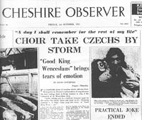 Czechoslovakia newspaper article