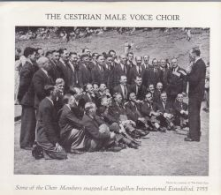 This photograph of the Choir was taken exactly 60 years ago when they competed at Llangollen International Eisteddfod.  They compete again this year..